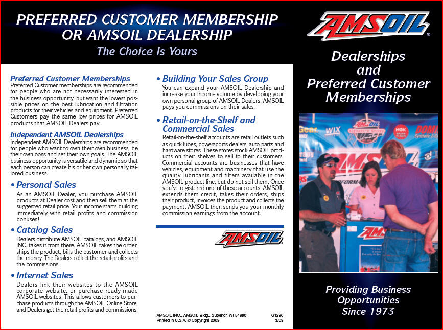 Amsoil dealer preferred customer wholesale program